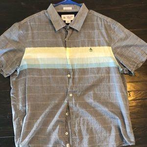NWOT Mens Penguin Short Sleeve Shirt - Sz. XL